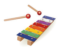 Colorful xylophone Royalty Free Stock Images