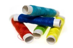 Colorful yarn. On a white background Royalty Free Stock Image