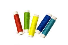 Colorful yarn. On a white background Stock Photography