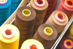 Colorful yarn. Lots of colorful factory yarn Royalty Free Stock Image