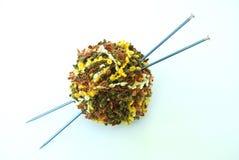 Colorful yarn ball - knitting  Stock Image
