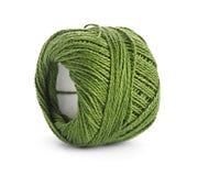 Colorful yarn balls. On white background Stock Photo
