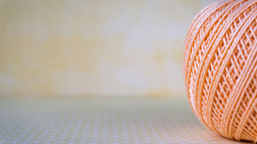 Colorful yarn balls with copy space for text. Selective focuse.  Royalty Free Stock Photo