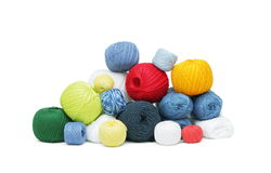 Colorful yarn clews Stock Photos