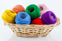 Colorful yarn Stock Photography