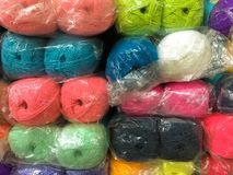 Colorful yarn. In market thailand Stock Photography