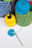 Crochet equipment Stock Image