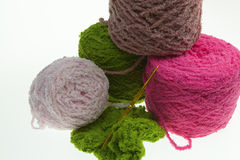Colorful yarn for crocheting Stock Photos
