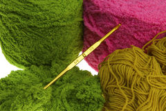 Colorful yarn for crocheting Stock Images