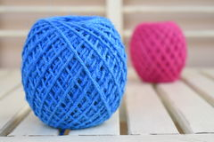 Colorful yarn for crocheting Royalty Free Stock Photos