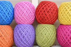 Colorful yarn for crocheting Royalty Free Stock Images