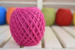 Colorful yarn for crocheting Royalty Free Stock Photo