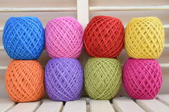 Colorful yarn for crocheting Stock Photography