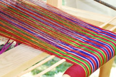 Colorful Yarn; Hand Loom Royalty Free Stock Photo