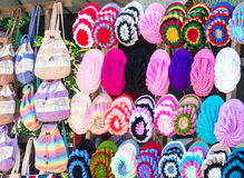 Colorful yarn hat Royalty Free Stock Image