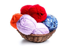 Colorful yarn Stock Photos