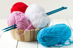 Colorful yarn for knitting Royalty Free Stock Photo