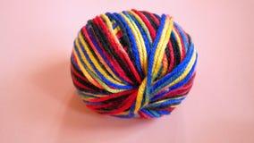 Colorful Yarn. On Orange Background Stock Image