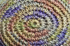 Colorful yarn weave Royalty Free Stock Image