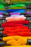Colorful yarns Royalty Free Stock Photography