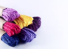 Colorful yarns for knitting Royalty Free Stock Photos