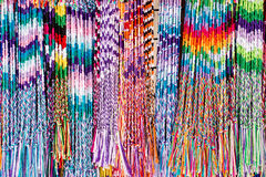 Colorful yarns. In the market Stock Photo