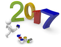 Colorful Year 2017 Royalty Free Stock Photo