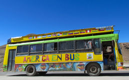 Colorful yellow bus Stock Photography