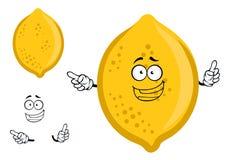 Colorful yellow cartoon lemon fruit Royalty Free Stock Photos