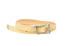 Colorful yellow cream vintage belt isolated Stock Image