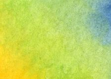 Colorful yellow, green and blue watercolor background. Abstract texture royalty free illustration