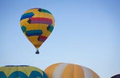 Colorful Yellow Hot Air Balloon Stock Photos