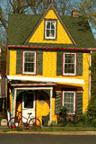 Colorful yellow house Royalty Free Stock Photo