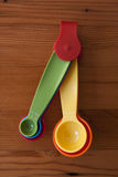 A colorful yellow measuring spoon Stock Images