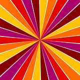 Colorful yellow, pink, orange and red ray sunburst style abstrac Stock Images