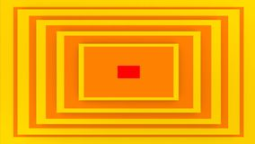 Colorful Yellow Rectangular Background. An optical art 3d illustration of a rectangular background composed of yellow and brown stripes. It looks like a cheerful Royalty Free Stock Image