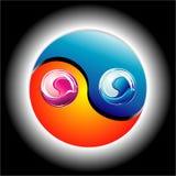 Colorful Ying Yang Stock Image