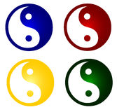 Colorful ying and yang symbols Royalty Free Stock Photography