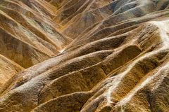 Colorful Zabriskie Point - Death valley stock photos