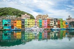 Free Colorful Zhengbin Fishing Port At Keelung, Taiwan Stock Photo - 188276430