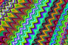 Colorful Zig Zag Background Stock Image