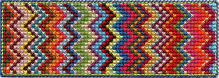Colorful zig zag pattern Stock Photos