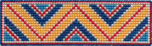 Colorful zig zag pattern Royalty Free Stock Photo