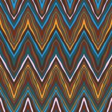 Colorful zig-zag pattern, seamless vector. Background Royalty Free Stock Images