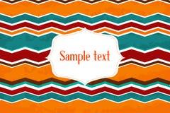 Colorful zigzag background Stock Image