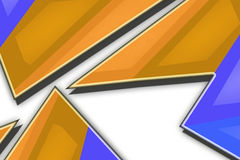 Colorful zigzag geometry top side, abstract background Stock Photos