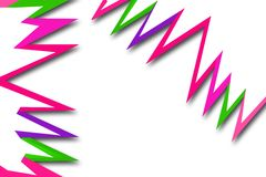 Colorful zigzag line , abstract background Royalty Free Stock Photos
