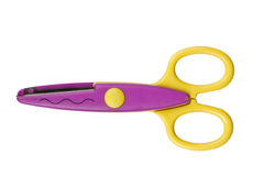 Colorful zigzag scissors Stock Photography