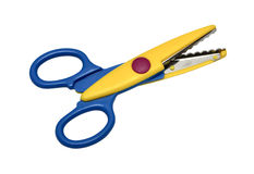 Colorful zigzag scissors Stock Images