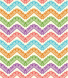 Colorful zigzag seamless pattern. Chevron background. Vector illustration Royalty Free Stock Photos
